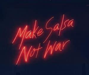 lekkere salsa maak je in een koperen pan