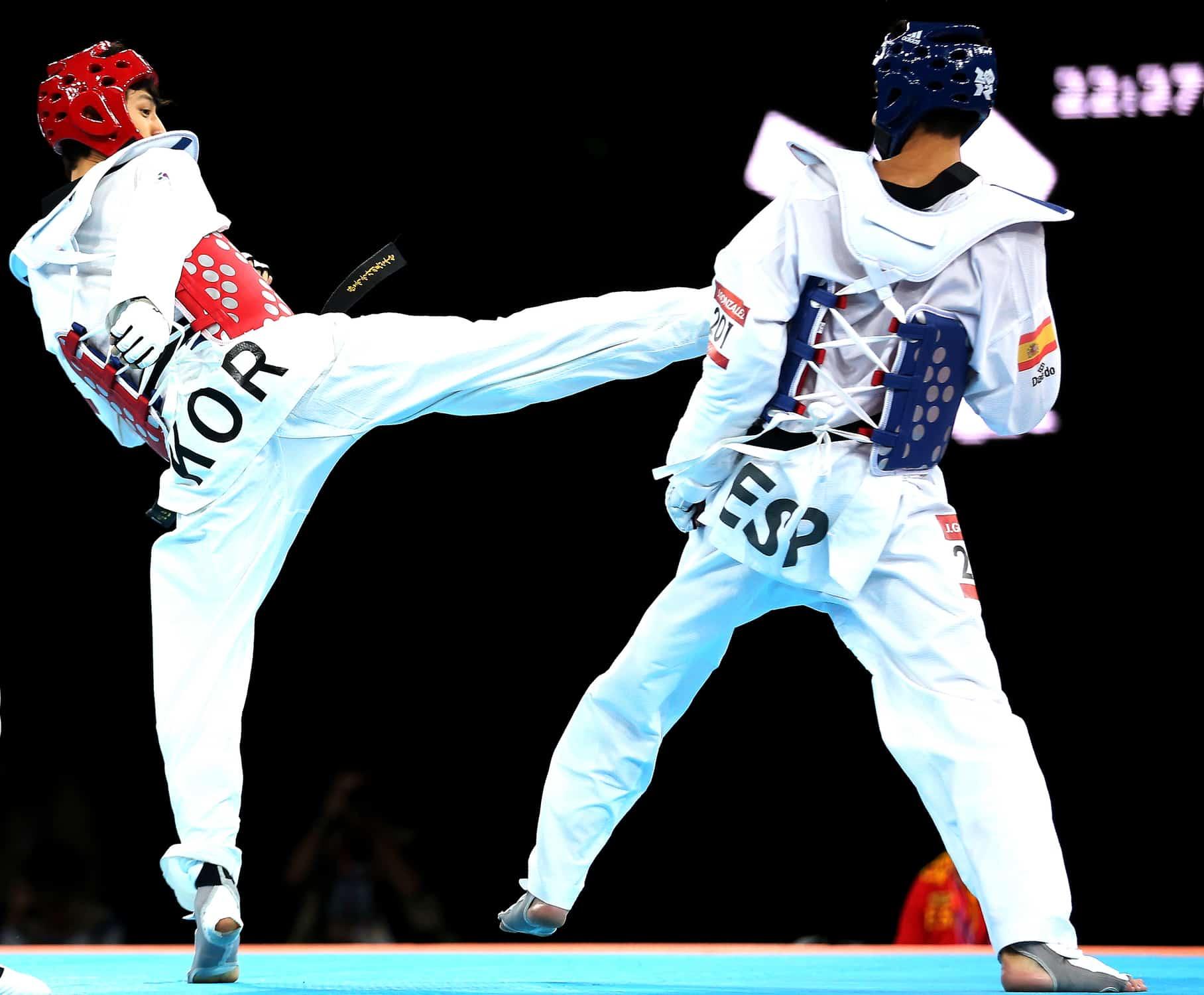 Taekwondo athletes